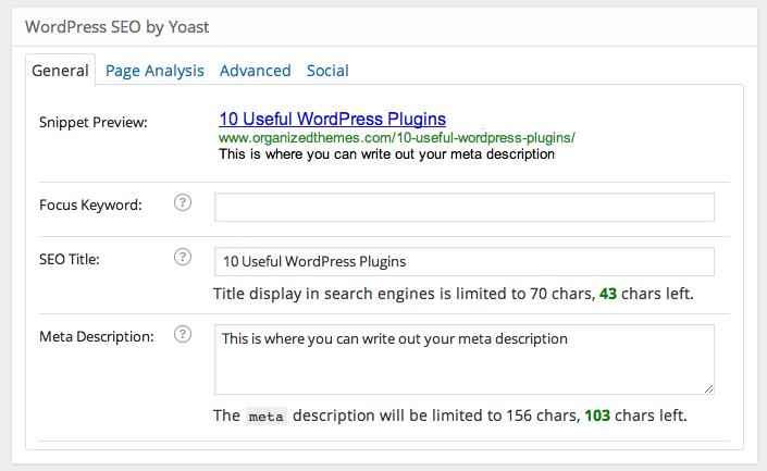 WordPress SEO Preview