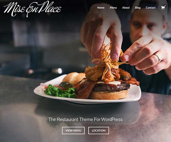 Mise En Place by Organized Themes - Restaurant WordPress Theme
