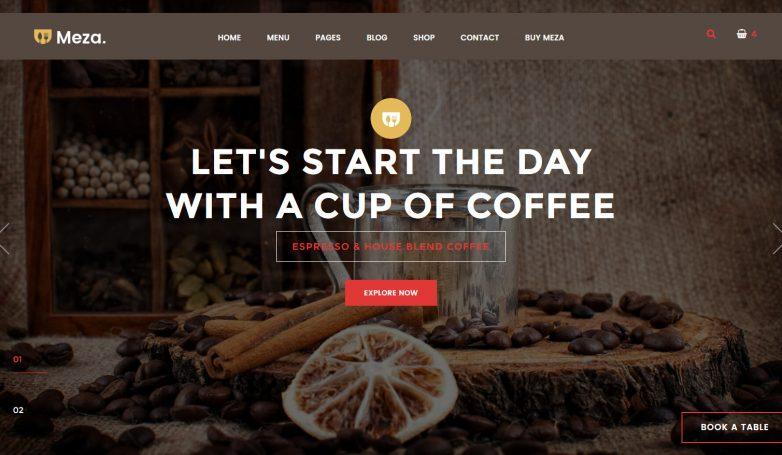 Meza Homepage – Coffee