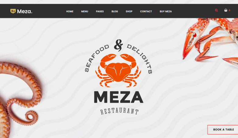 Meza Homepage – Seafood
