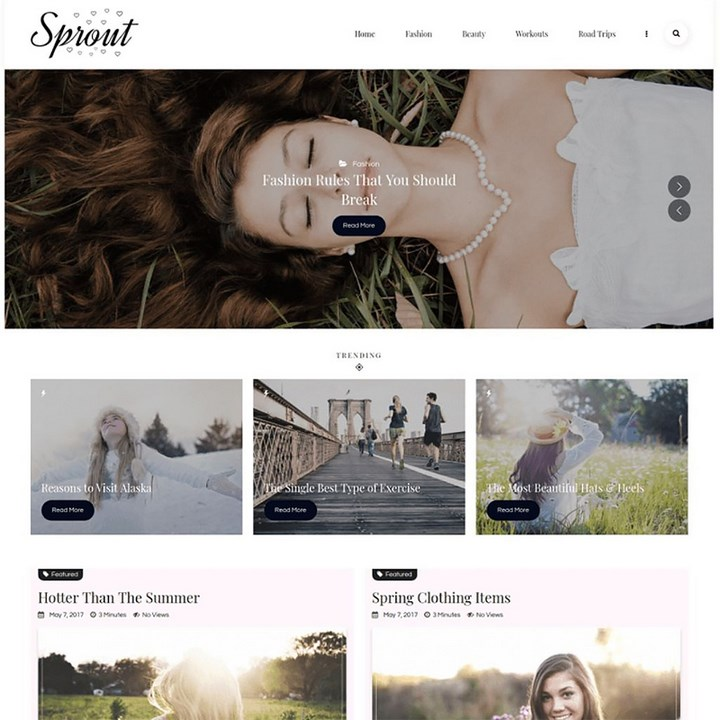 Sprout - Personal Blog WordPress Theme