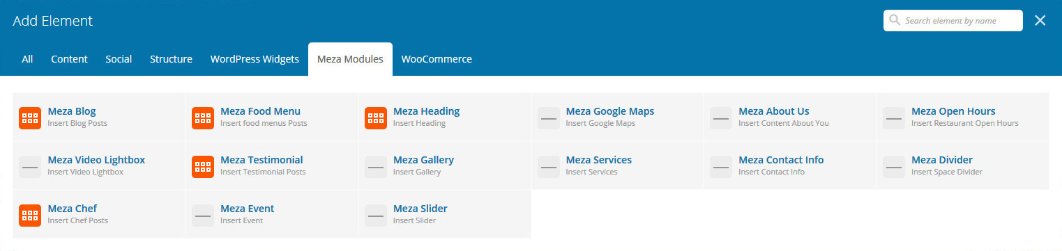Meza Modules - WPBakery Page Builder