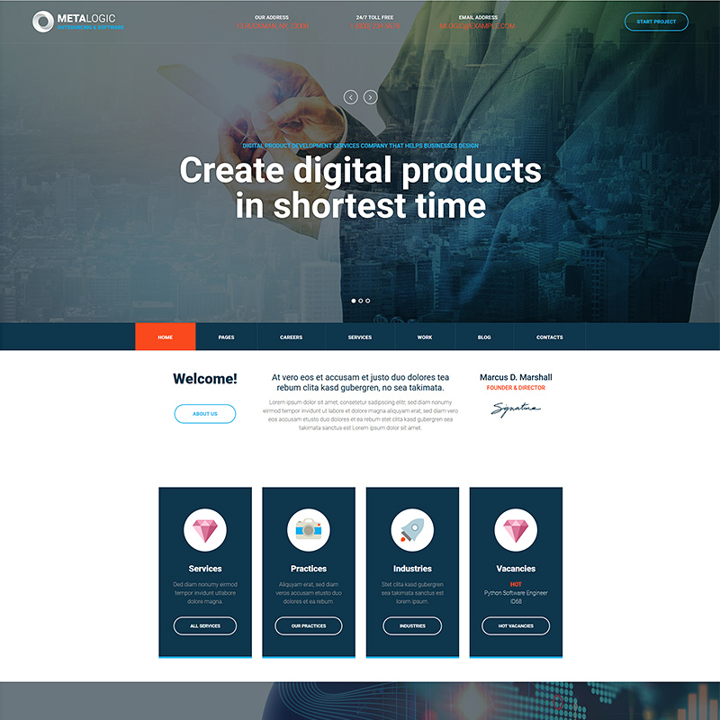 Metalogic - Software Development WordPress Theme