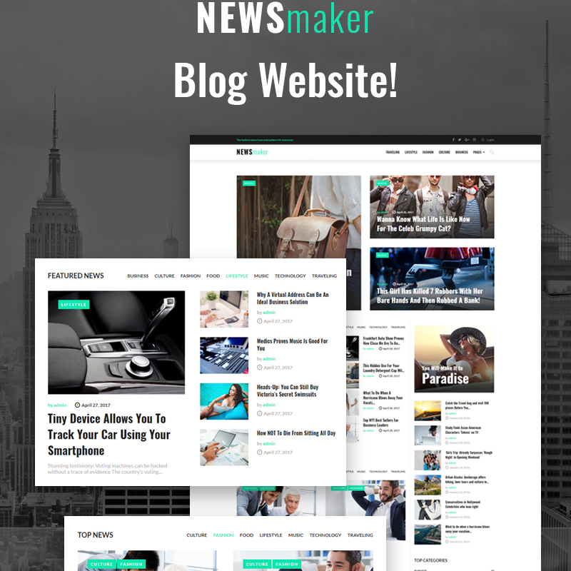 NEWSmaker - News & Magazine WordPress Theme WordPress Theme