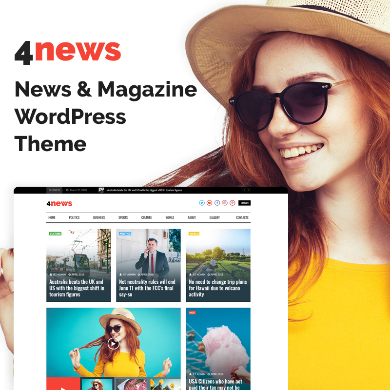 4News - News & Magazine Elementor WordPress Theme