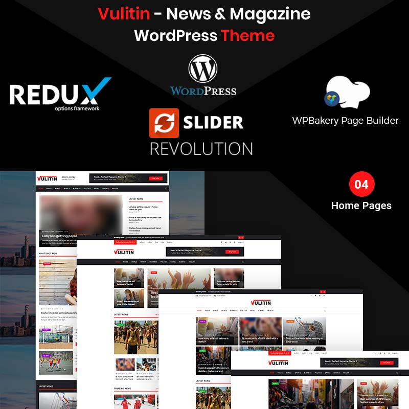 Vulitin - News & Magazine WordPress Theme