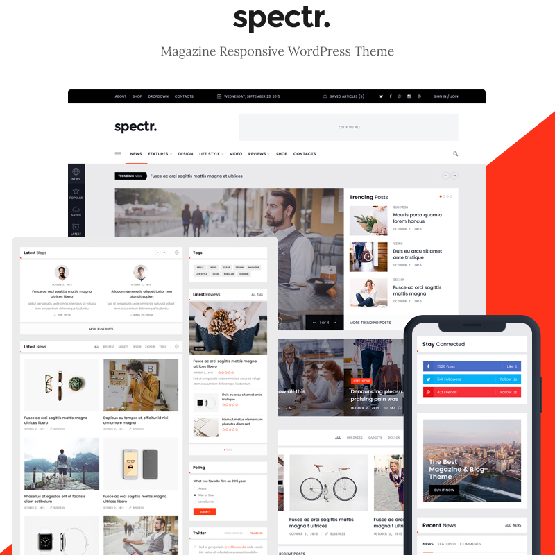 Spectr - Magazine & Blog WordPress Theme
